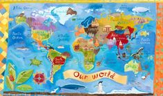"""""""Our World"""" - Canvas Wall Art from Oopsy daisy, Fine Art for Kids"""