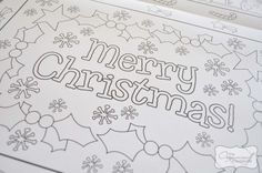 Laminate Christmas Colouring Pages to make placemats
