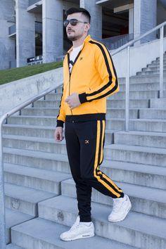 Cautare dupa: Trening EX Ocru-Negru Track, Suits, Men, Style, Fashion, Lab Coats, Swag, Moda, Runway