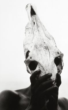"houkgallery: "" Herb Ritts (American, Eona - Holding Zebra Skull, 1993 ©Herb Ritts/Courtesy of Edwynn Houk Gallery "" Herb Ritts, Sketch Inspiration, Daily Inspiration, Black And White Photography, Photo Art, Monochrome, Portrait Photography, Street Art, Africa"