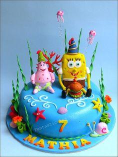 Spongebob Cake by Fantasticakes (@Flickr.com)  Awww for my grandson!