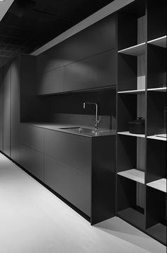 All black kitchen design #cocinasmodernasideas