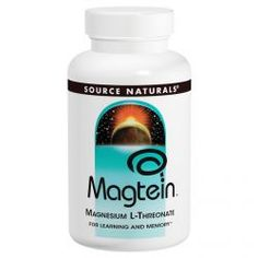 Source Naturals, Magtein, Magnesium L-Threonate, 667 Mg, 45 Capsules, Diet Suplements 蛇