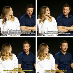 Elizabeth Olsen and Jeremy Renner