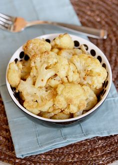Roasted Garlic-Parmesan Cauliflower from ourbestbites.com    I have a head of cauliflower in the fridge just waiting for this....