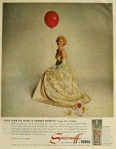 Original vintage magazine ad for Smirnoff Vodka featuring a glamorous ...