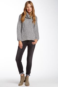 Seven7 Shimmer Stitch Skinny Jean by Seven7 on @HauteLook