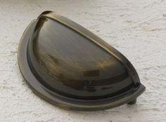 Cliffside Industries Cabinet Hardware Antique Brass Bin / Cup Pull 1