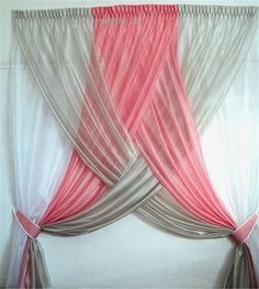 curtain for girls bedroom simple and pretty black and hot pink for our princess curtains for curtain ideas for girl bedroom Girls Bedroom Curtains, Pink Curtains, Home Curtains, Fringe Curtains, Nautical Curtains, Apartment Decorating For Couples, Diy Apartment Decor, Princess Curtains, Cheap Home Decor