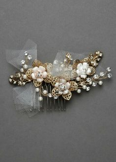 Jeweled floral haircomb