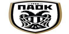 PAOK Thessaloniki of Greece crest. Football Team Logos, Football Soccer, Soccer Teams, Basketball, Fifa, Football Mexicano, Soccer Match, Car Bumper Stickers, Soccer World