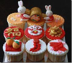 lion head CNY cupcakes