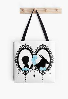 Finlayson fabric fun Gray Elephant cotton canvas tote bag purse Finland