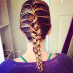 French braid ombre