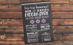 couples baby shower invitation baby girl by katesprintables, $15.00 can customize