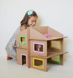Creare con la carta ♥ Papercraft : 11 giocattoli da costruire con scatoloni di cartone