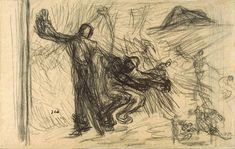 Jean-Francois Millet Drawings | jean francois millet death and woodcutter