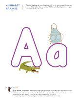 Preschool and kindergarten worksheets - Letter A