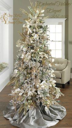 RAZ 2015 Enchanted Holiday Elegant Tree visit http://www.trendytree.com for RAZ Christmas decorations