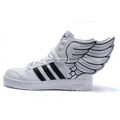 official photos 3fbaa 5e11d Adidas Originals JS Wings Superstar Black White - Personal Favorite JS  Pair Of Smooth Leather SuperStars That Elevates Your Walk ~