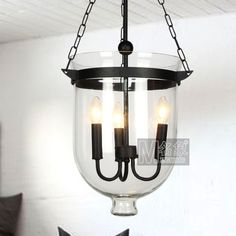 American Country Glass Pendant Lamp Bar Hotel Dinning Room Wrought Iron Rustic Antique Vintage Pendant Light
