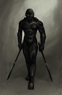 Cyber-ninja commission by Zerahoc.deviantart.com on @deviantART