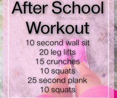 After school workout