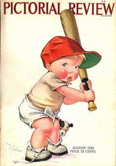 At Bat. Front cover of the Pictorial Review, August 1921. Artist is Charles Twelvetrees