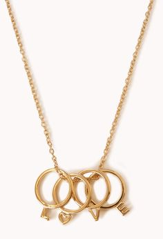 #Forever21                #love                     #Love #Ring #Charm #Necklace                        Love Ring Charm Necklace                            http://www.seapai.com/product.aspx?PID=55084