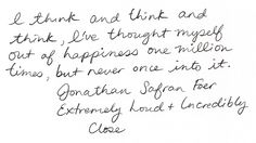 Extremely Loud and Incredibly Close, Jonathan Safran Foer.