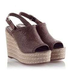 Pons Quintana - GABI Taupe woven leather high wedge heel espadrille... ($265) ❤ liked on Polyvore featuring shoes, sandals, beige, wedge espadrilles, high wedge sandals, beige espadrilles, espadrille shoes and espadrille sandals