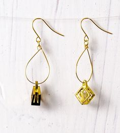 Vintage Brass Hoop Earrings | Collections Vintage Finds | Michelle Starbuck Designs | Scoutmob Shoppe | Product Detail