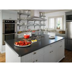 Shop Formica Brand Laminate Ebony Oxide - Matte Laminate Kitchen Countertop Sample at Lowes.com