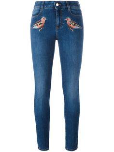 STELLA MCCARTNEY Robin Embroidered Skinny Jeans. #stellamccartney #cloth #jeans