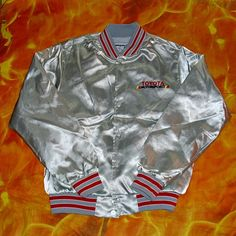 dd7df68efd Swingster Toyota Motorsport Baseball Jacket Sport Memorabilia Collectable  Vintage Size Medium Gotta Play Dirty To Win Varsity Silky Look