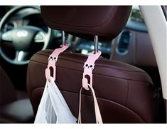 2pcs Universal Car Back Seat Headrest hanger Hook for Back Seat  Grocery Storage Clasp Cartoon Auto Fastener clip Purse Hook