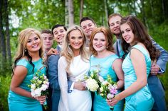 Small Wedding party pose  Click through to see the full wedding gallery. Caroline Ann Photography College Station Wedding Photographer