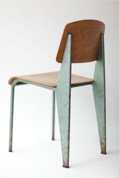 jean prouve rocks my world  dream chair, weakness for all things in the mint/seafoam green family