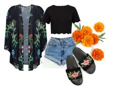 """""""Sem título #2"""" by lafervic on Polyvore featuring moda, Boohoo, Ted Baker, Levi's, cool, outfit, coachella e inspiration"""
