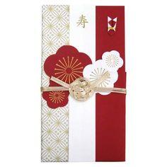 《ご結婚祝》寿/紅白梅 御祝儀袋(金封・中封筒付き)ハンドメイド熨斗袋(のし袋)通販/                                                                                                                                                      もっと見る