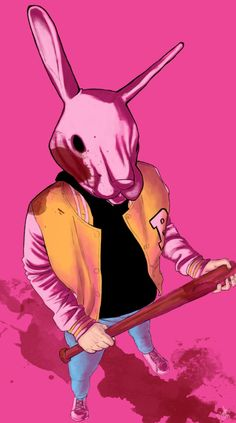 Graham by JammerLammy, hotline miami fan art, painting