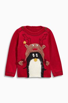 Buy Red Penguin Jumper (3mths-6yrs) from the Next UK online shop