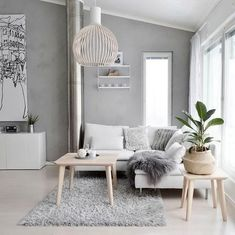 Gorgeous White Living Room Color Scheme That Will Amaze You - wohnzimmer ideen Living Room White, White Rooms, Small Living, Modern Living, Living Room Color Schemes, Living Room Designs, Design Lounge, Boho Deco, Style Deco