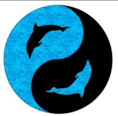 Dolphin Yin Yang (love this & the colors!) Google images