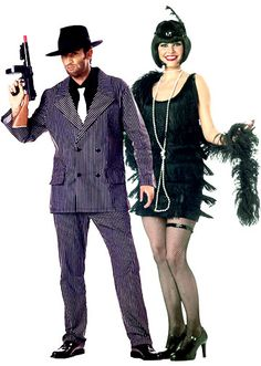 gangster and flapper swing into speakeasy style with these 1920s inspired gangster and flapper costumes