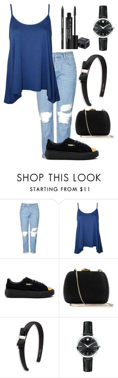 """""""first post on 2017!!"""" by nadhiraxs on Polyvore featuring Topshop, WearAll, Puma, Serpui, Salvatore Ferragamo, Movado and Rodial"""