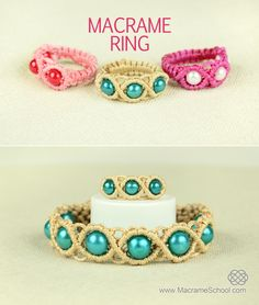 How to Make a Macrame Ring with Beads - http://youtu.be/1Dg8uidGOpQ