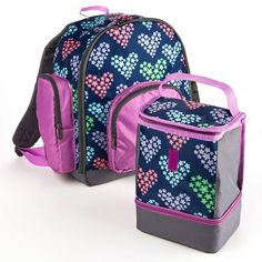 #backtoschool #FitFresh Fit & Fresh #backpacks are designed to be a fun and easy way to carry lunch and supplies to school daily!