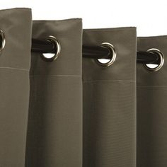 Charcoal Sunbrella Outdoor Curtains Grommets $99.99  Designed for heavy use and minimal care, Sunbrella is the most established, best known high -performance outdoor fabrick on the market today, with an unmatched history of quality, durability andproduct attractiveness. A heavy-duty yet lightweight solutio