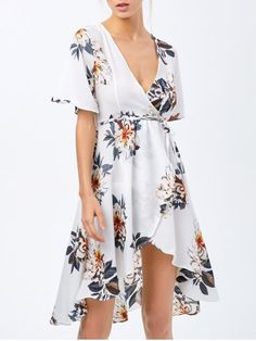 #reallycute High Low Floral Swing Wrap Dress